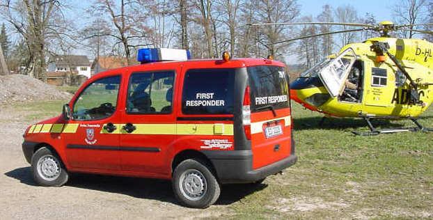 First Responder und Hubschrauber