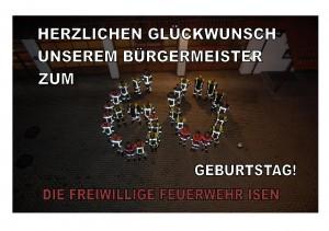 FF Isen - Glückwunsch zum 60. Geburtstag