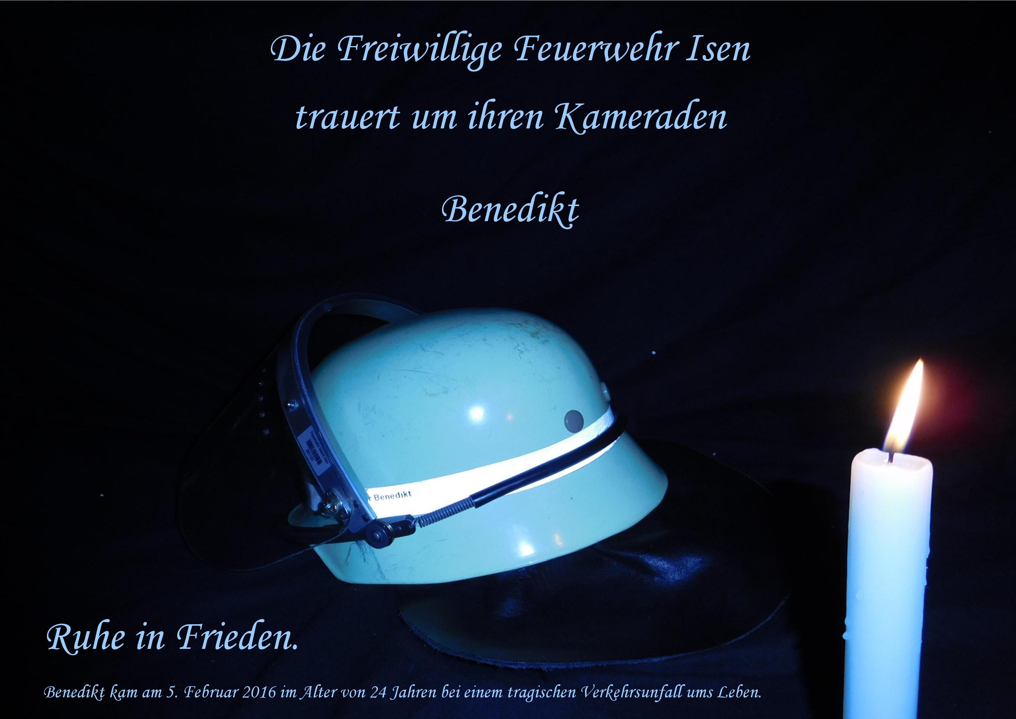FF Isen - Trauerkarte