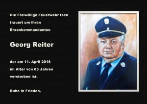Georg Reiter - Traueranzeige